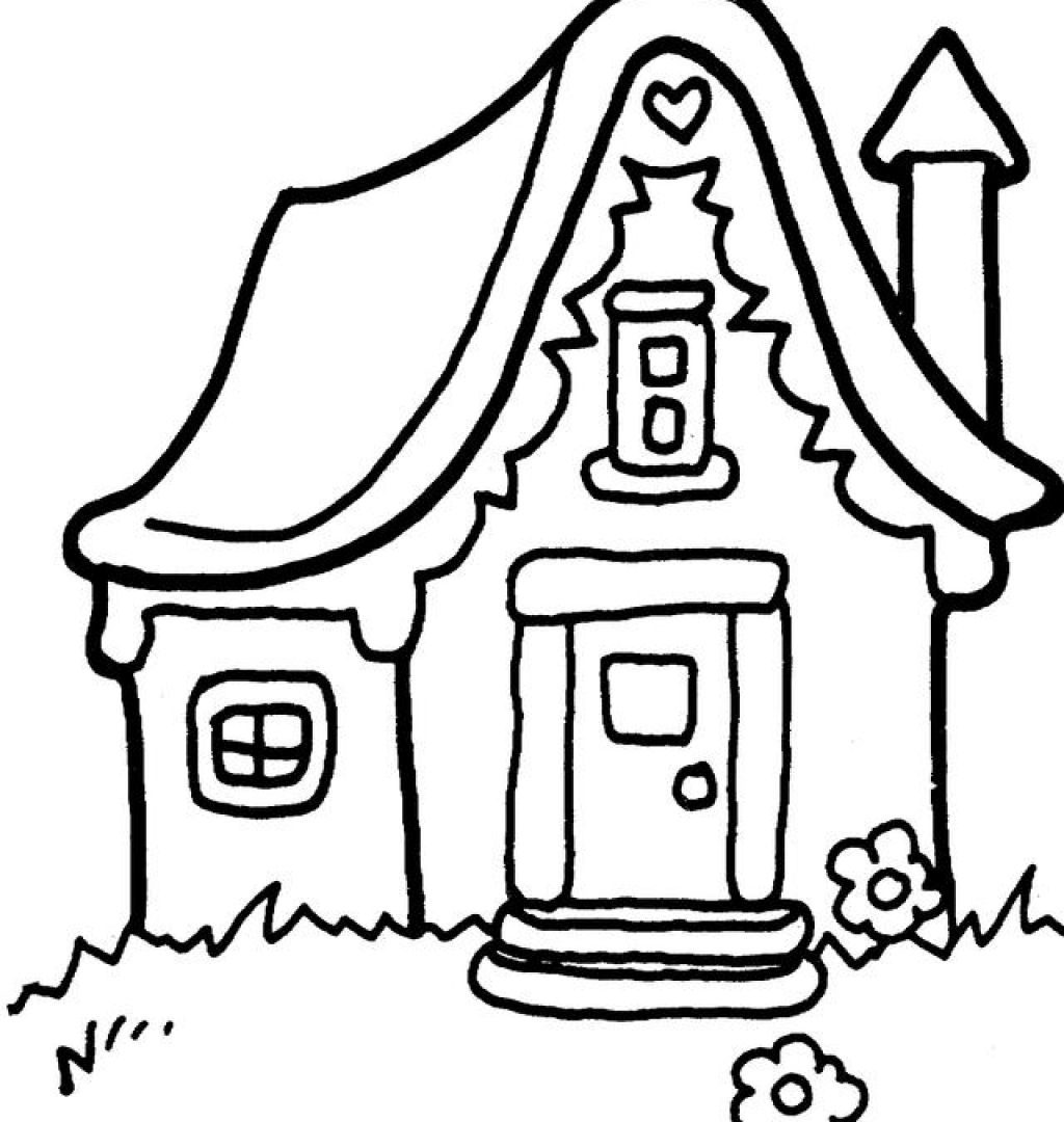 1024x1080 Hello Kitty House Coloring Pages Free Drawing Printable Adult