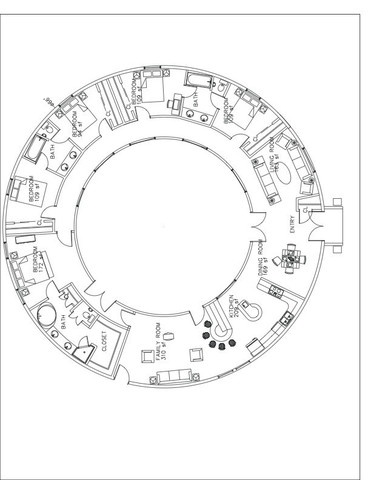 371x480 Hobbit House Plans
