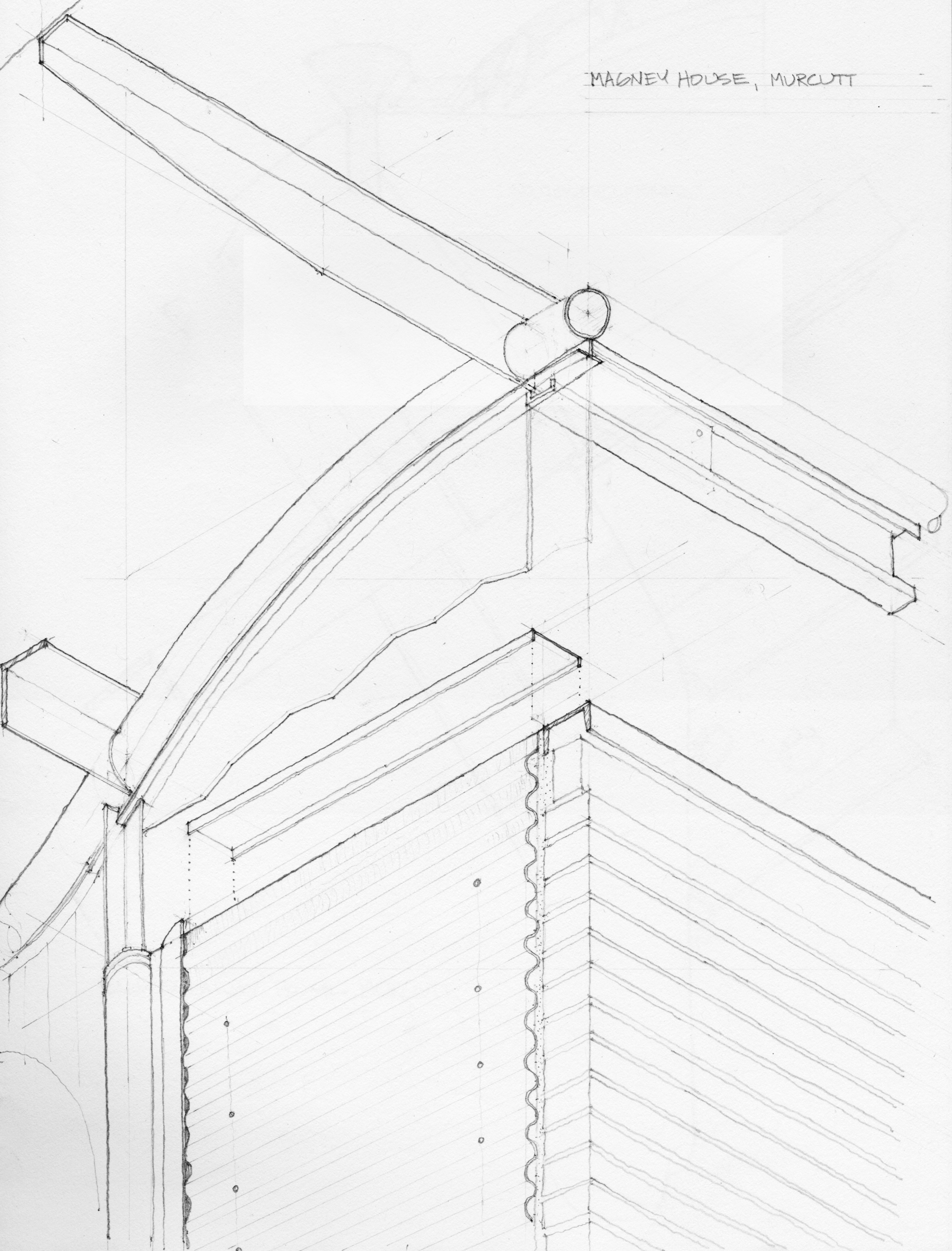 2544x3342 Axonometric Sketch Of Murcutt's Magney House From Drawings Field