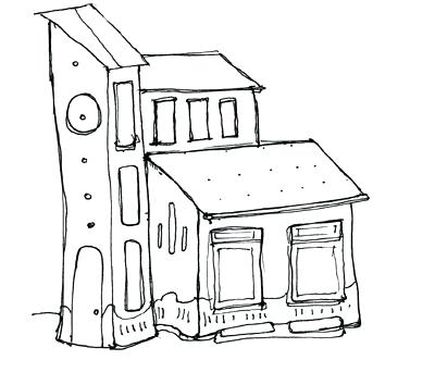 400x354 small house drawing –