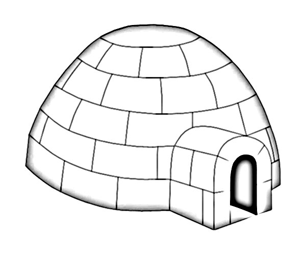 600x500 Igloo Eskimo House Sketch
