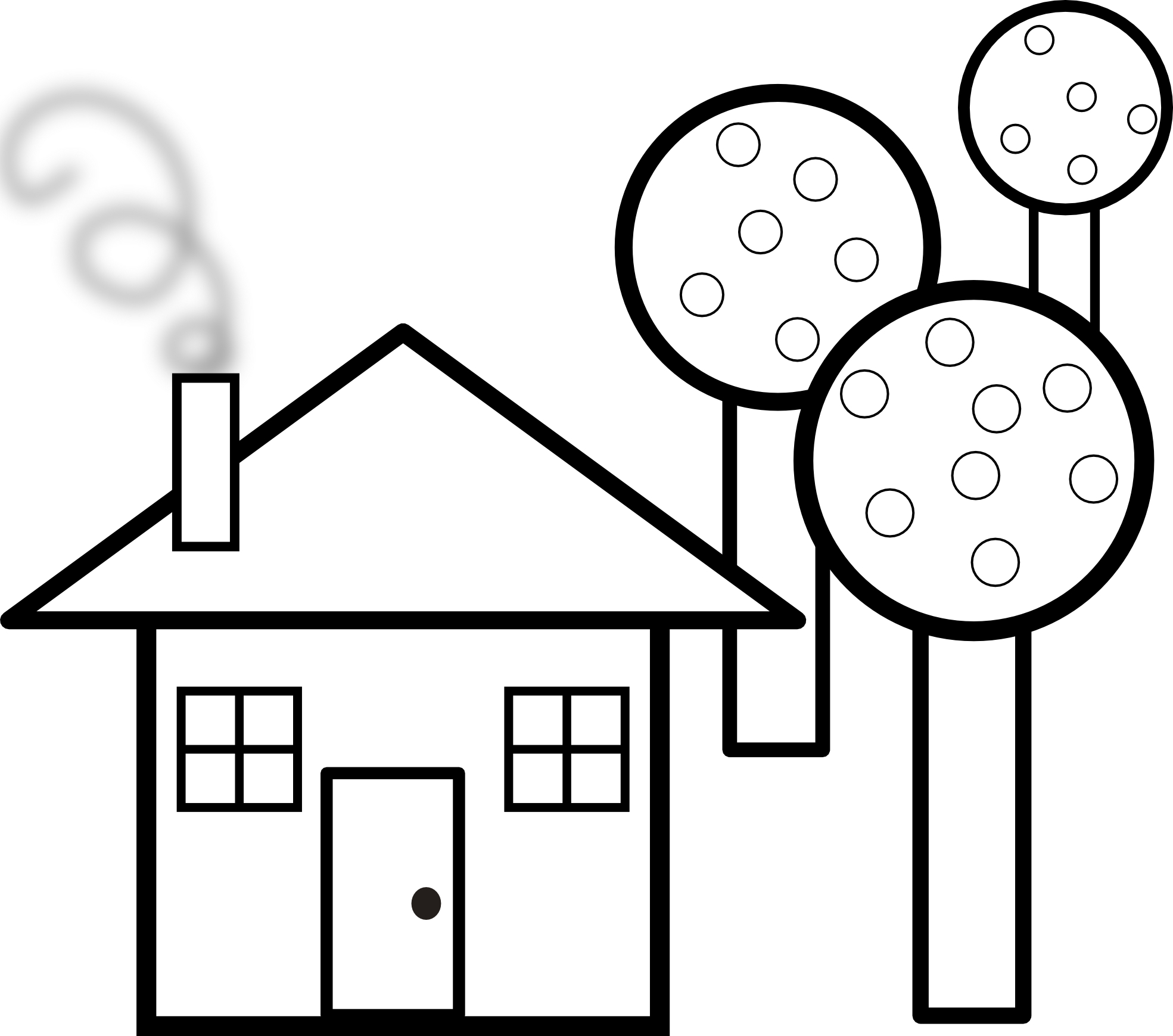1969x1739 Black And White House Drawing White House Clipart Black And White