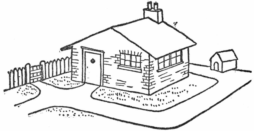 1024x530 Free Clipart House And Yard Black And White