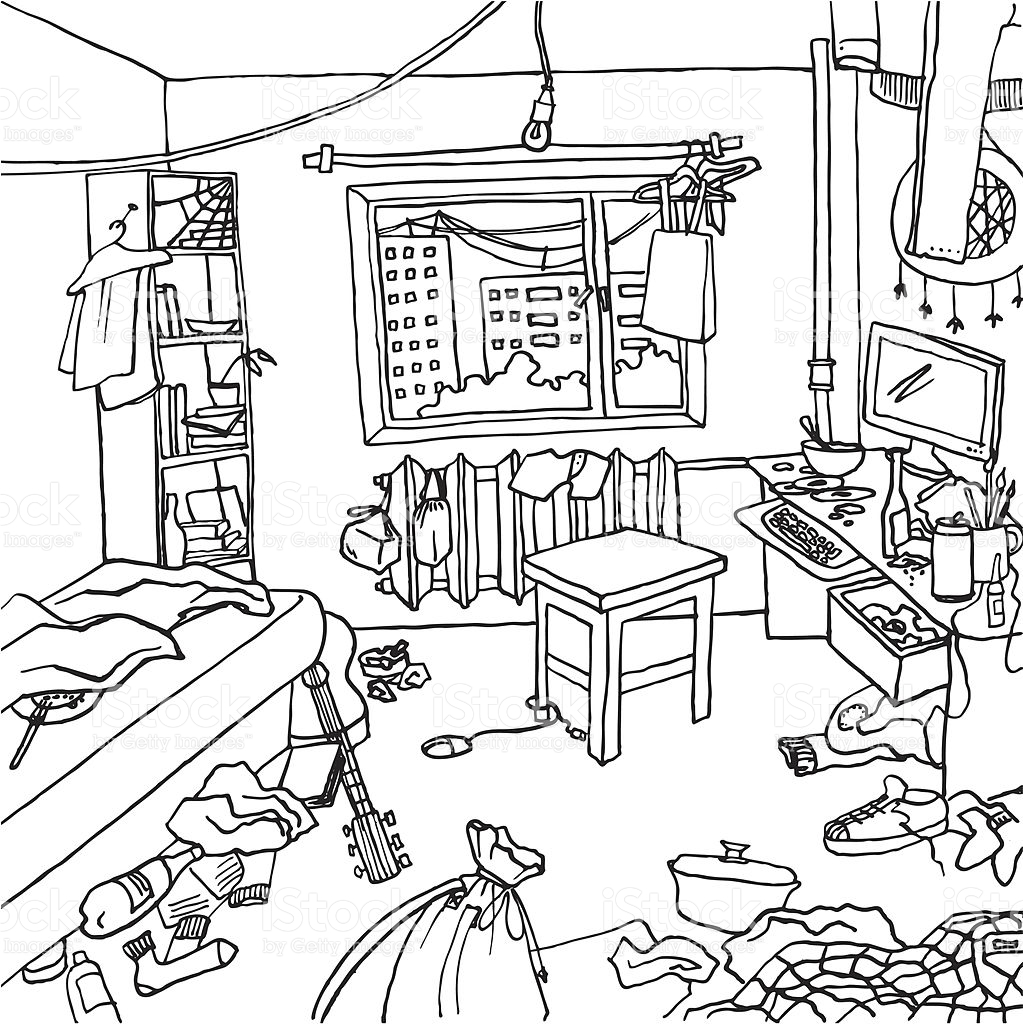 1023x1024 Dirty House Clipart Black And White