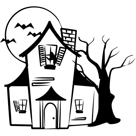 450x450 Halloween House Drawing Fun For Christmas