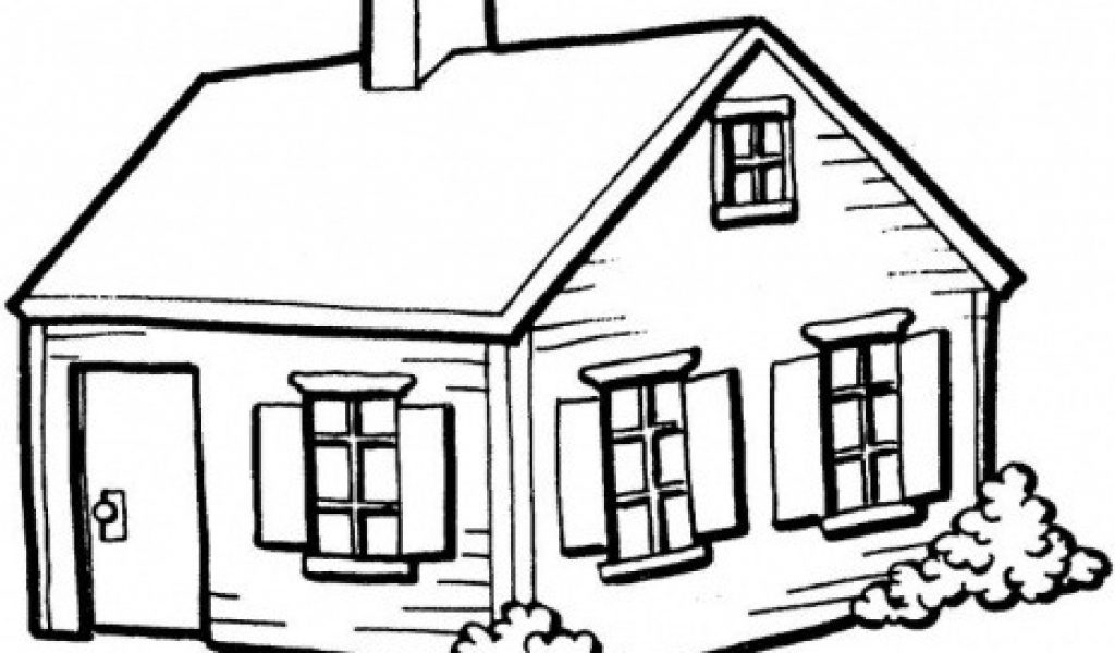 1024x600 Simple House Drawing House Clipart Line Drawing Pencil And