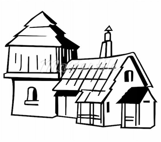 550x486 Cartoon Farm House Cartoon Farm House Free Download Clip Art