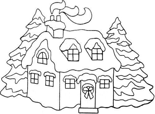 500x370 Snow Covered House Clipart Collection