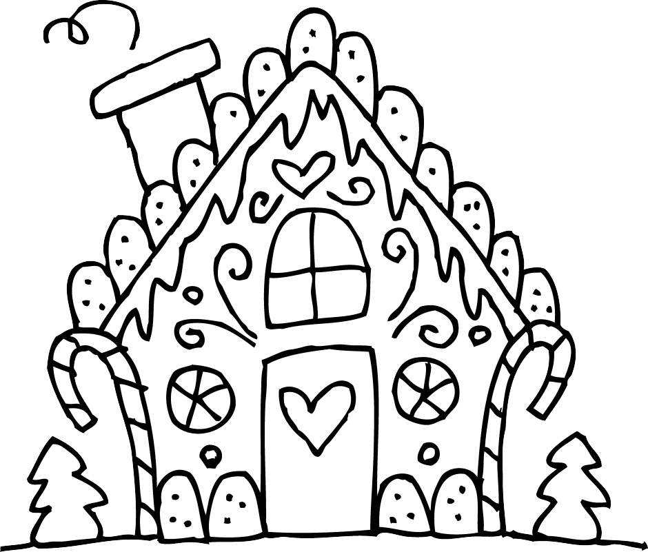 940x801 44 Free Gingerbread House Clipart