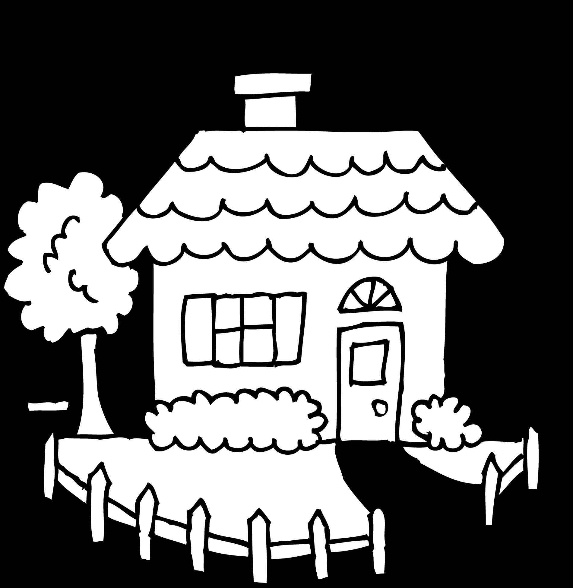 1900x1950 The Images Collection Of White Cozy House Coloring Page Free Clip