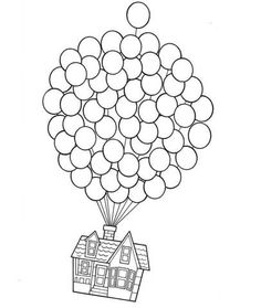 236x279 Up House Drawing Pixar Up Balloons Drawing With Jpo7eb Clipart