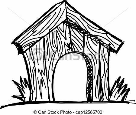 450x379 60 Beautiful Of Dog House Drawing Pictures