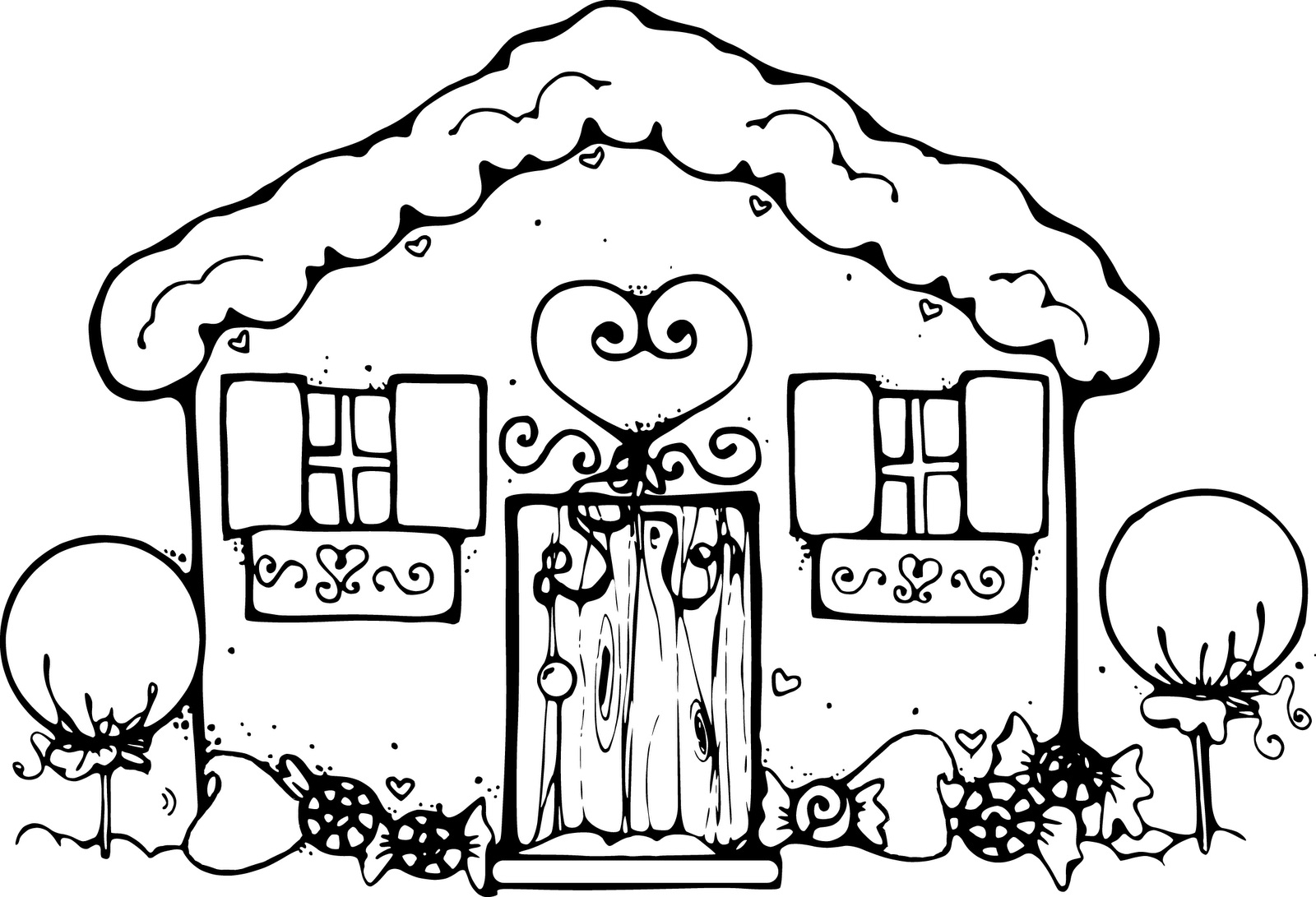 1600x1091 House Drawings For Kids To Color