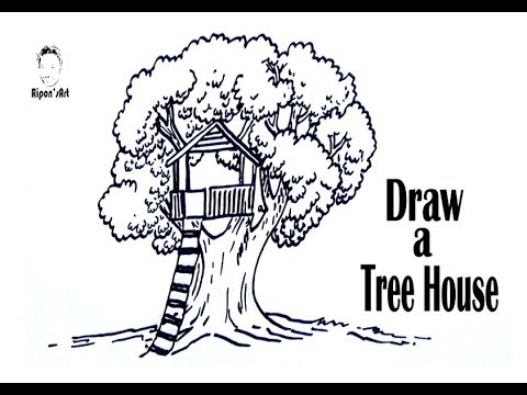 480x360 How To Draw A Tree House Step By Step