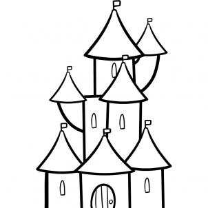 302x302 How To Draw How To Draw A Castle For Kids