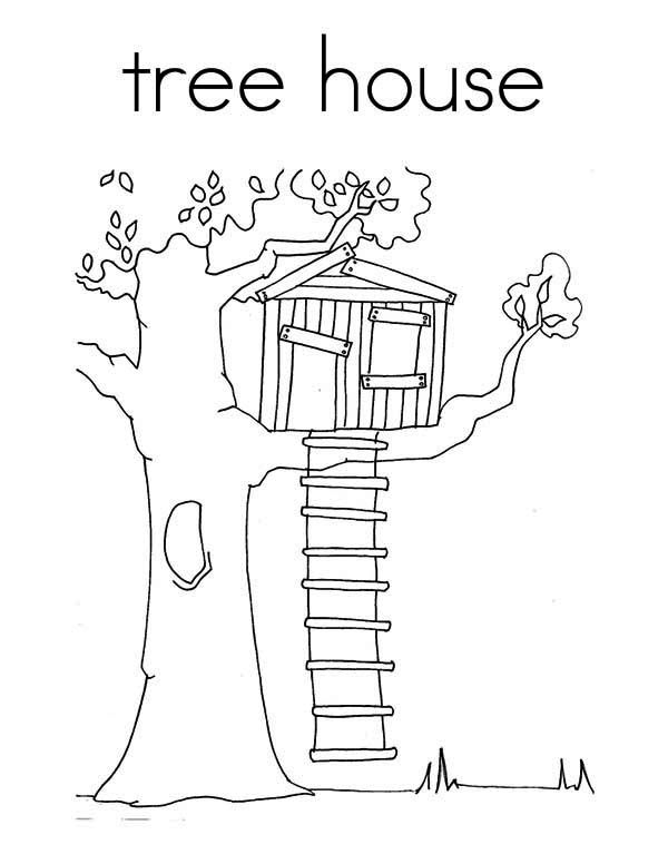 600x776 Pleasing Kids Tree House Drawing Inspiration Design Of 35 Best