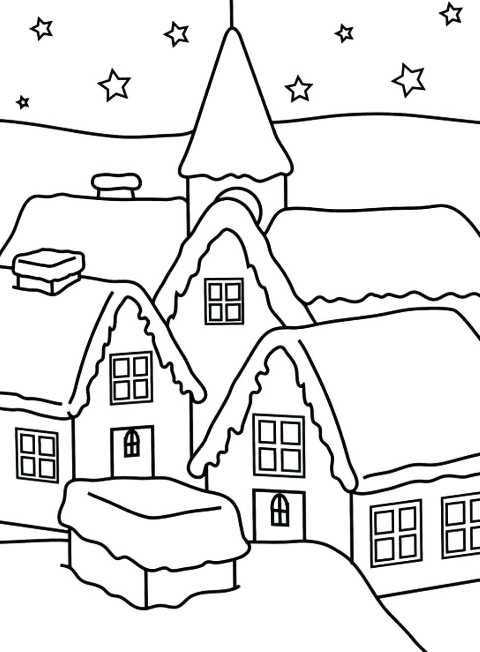 968x1315 Coloring Coloring Pictures Of A House Pages Printable