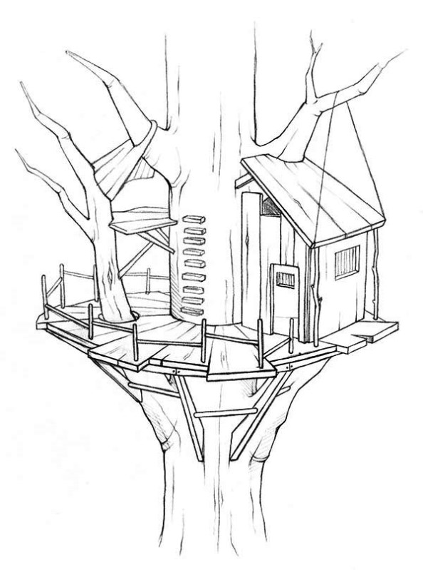 594x799 Download Treehouse Coloring Pages