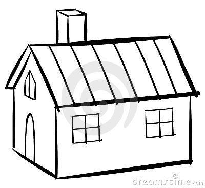 400x367 New Cartoon House Outline