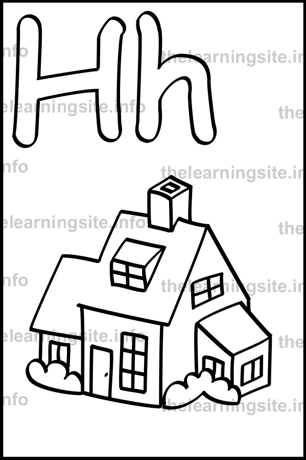599x899 Simple House Outline Drawing
