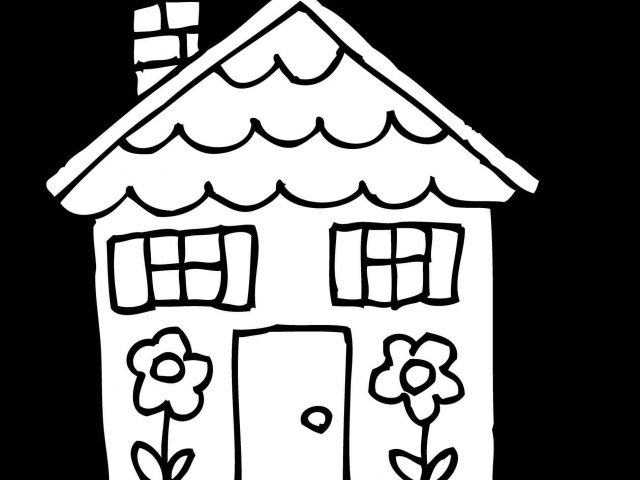 640x480 The Images Collection Of Vector Home Clipart Black And White