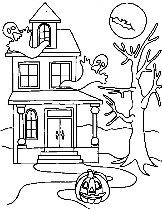 615x800 Drawn Haunted House Line Drawing Simple
