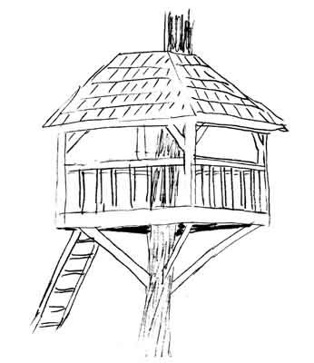 346x400 Fascinating Kids Tree House Drawing Decorating Design Of 35