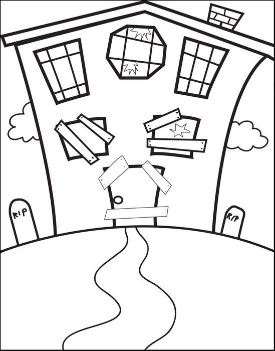 549x700 Haunted House Drawing Ideas