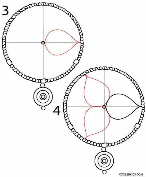 500x607 How To Draw A Dreamcatcher How To Draw A Dreamcatcher Step Step