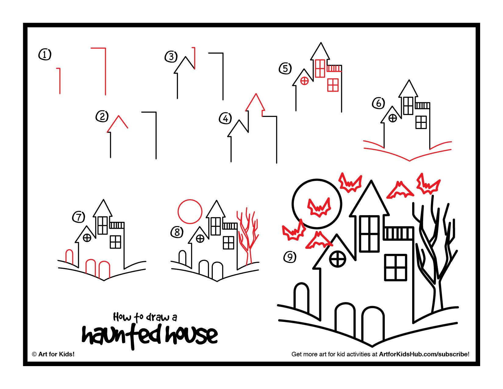 1650x1275 How To Draw A Haunted House