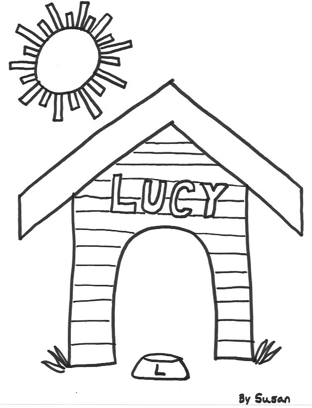 630x825 Dog House Coloring Pages