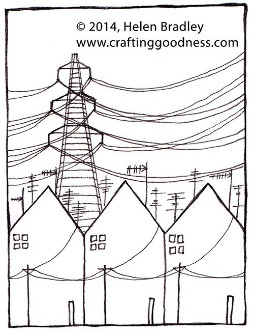 500x652 Drawing Row Houses In An Industrial Setting Kawaii And Doodles