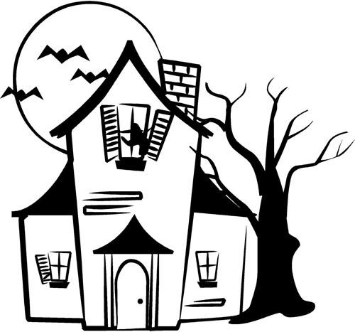 500x467 Drawn Haunted House Basic House