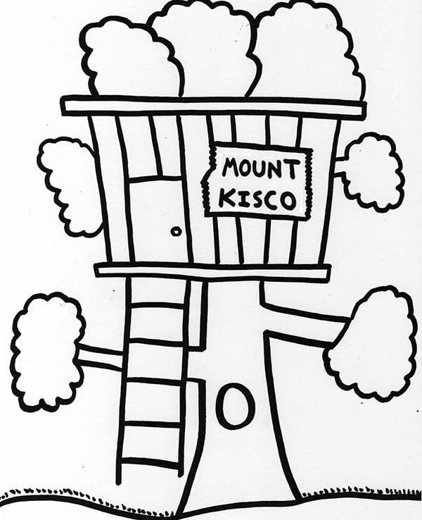 600x738 Fascinating Kids Tree House Drawing Decorating Design Of 35