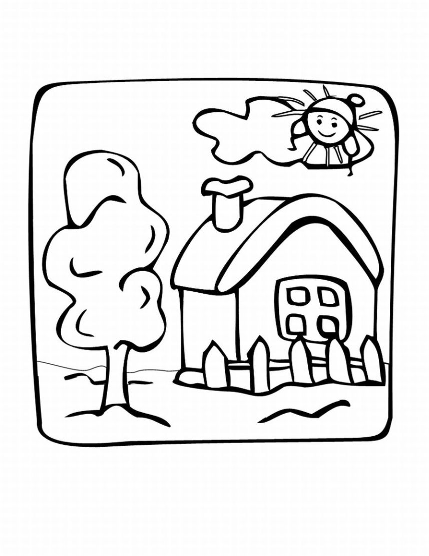 857x1109 Drawing House Coloring ~ Child Coloring