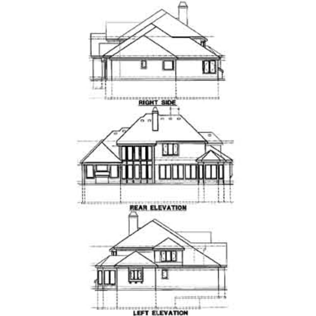 1024x1024 Traditional Style House Plan