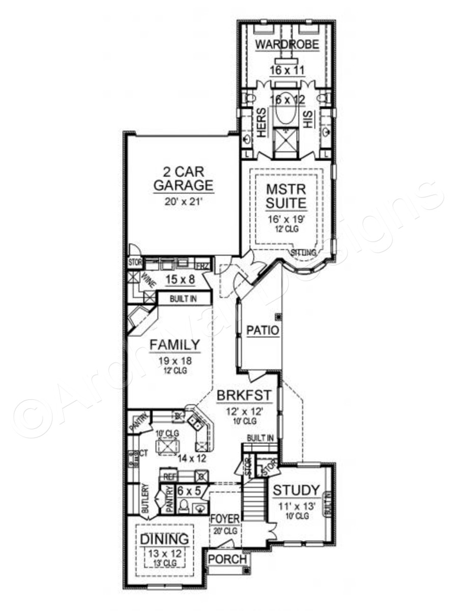900x1200 Castle Pines House Plan Home Plans By Archival Designs