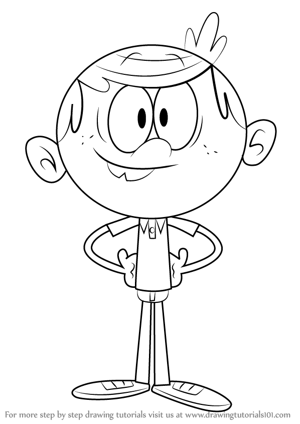 598x844 Learn How To Draw Lincoln Loud From The Loud House (The Loud House