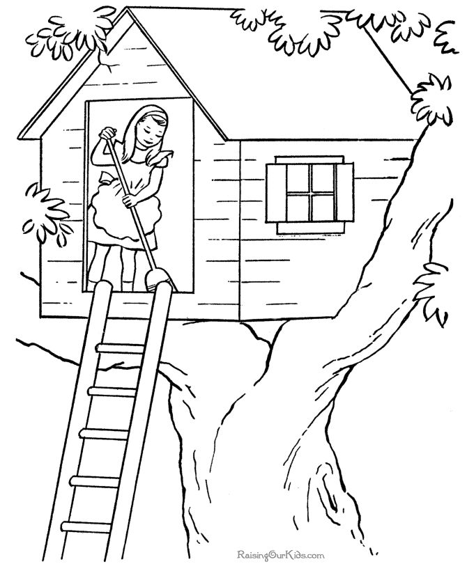 670x820 Pictures Drawing Of House For Kids To Color,