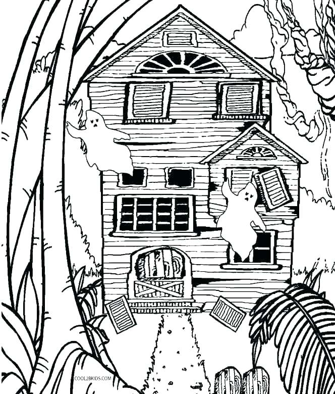 664x780 Monster House Coloring Pages Coloring Pages For Kids Printable