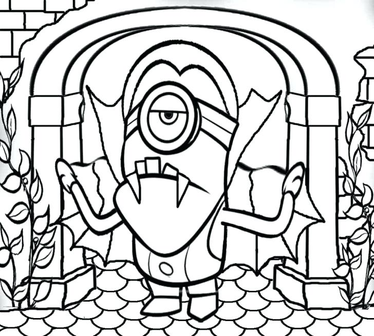 728x655 Monster House Coloring Pages Printable Pictures To