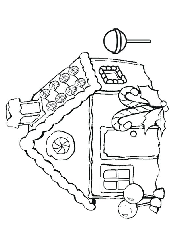 600x850 Free Gingerbread House Coloring Pages Genesisar.co