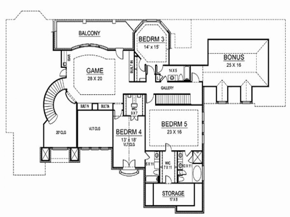 959x719 Second Story House Plans Tags Second Floor House Plans Draw