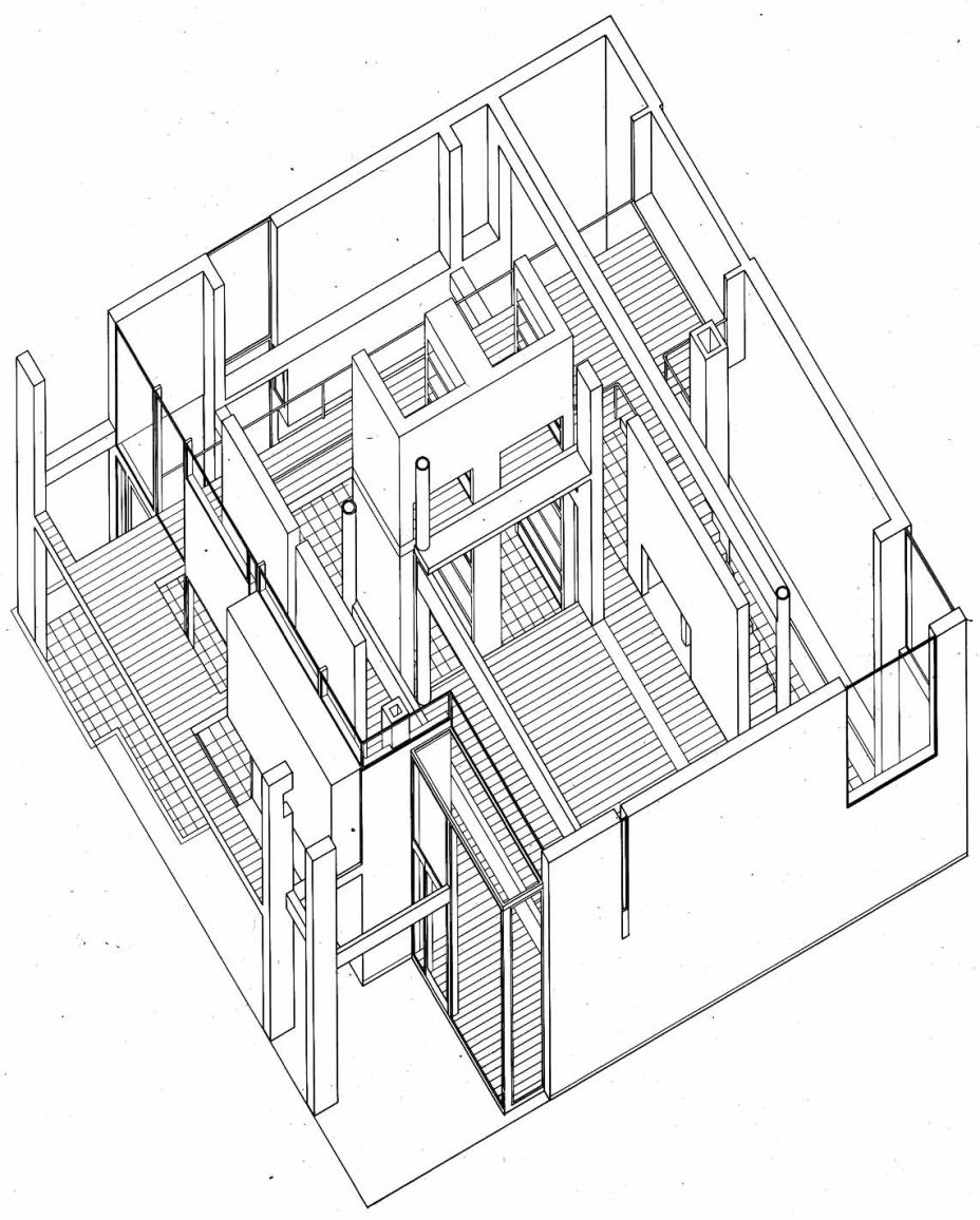 928x1156 Uncategorized Peter Eisenman House Vi Plan Best Inside Brilliant