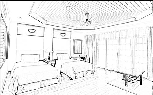 500x311 Home Interior Design Sketch