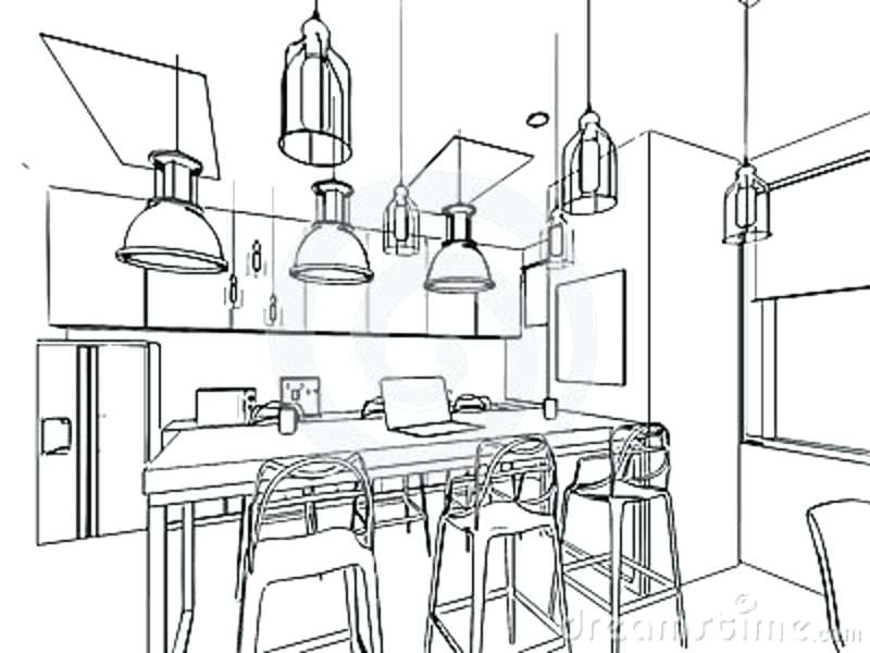 800x600 House Interior Drawing Drawn Room Kitchen Room 3 House Interior