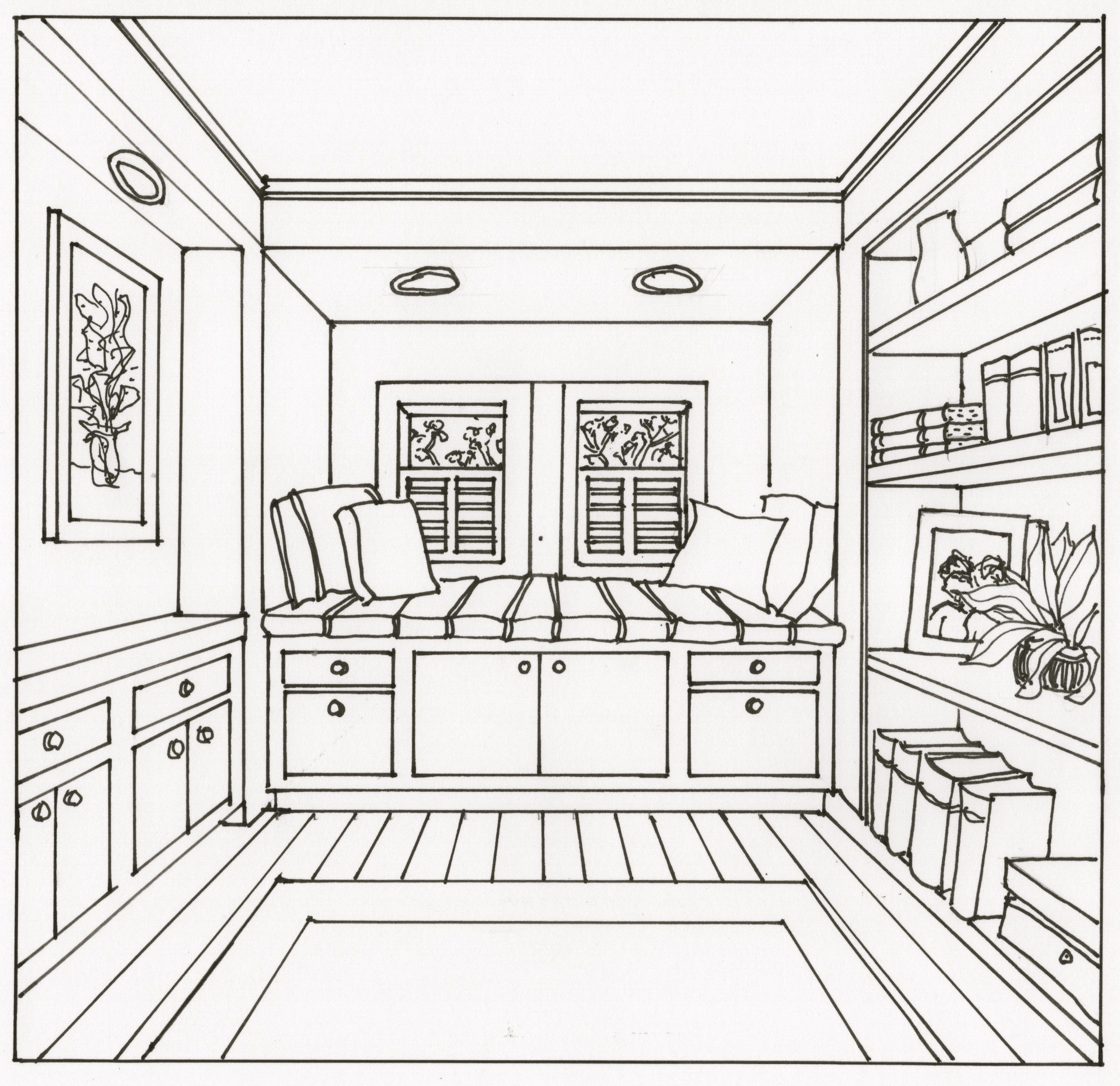 2246x2178 Interior Design Drawings Perspective