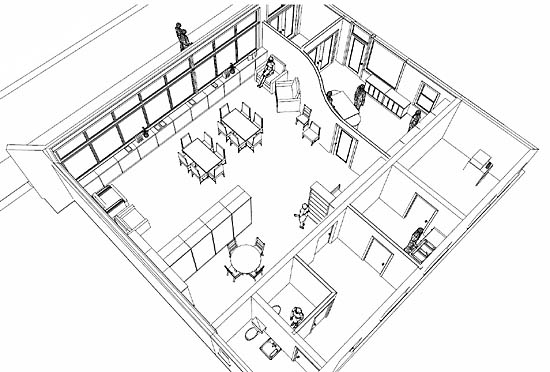 550x372 Restaurant Interior Drawing Easy Interesting Painting Office
