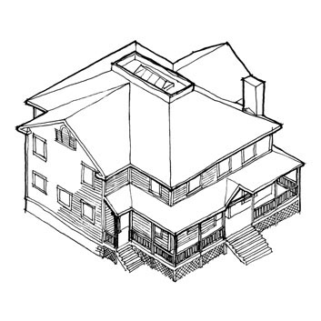 353x353 Astonishing Isometric Drawing House Plans Contemporary