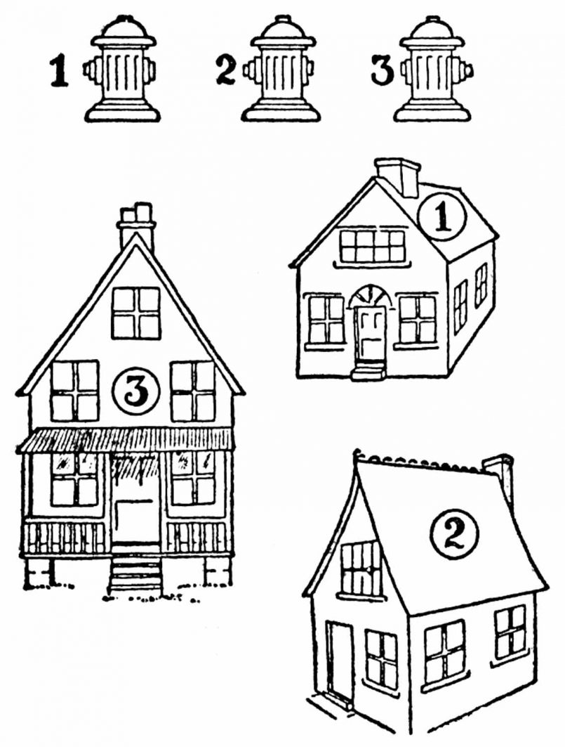805x1063 Drawing Gingerbread House Easy Drawing Together With Easy House